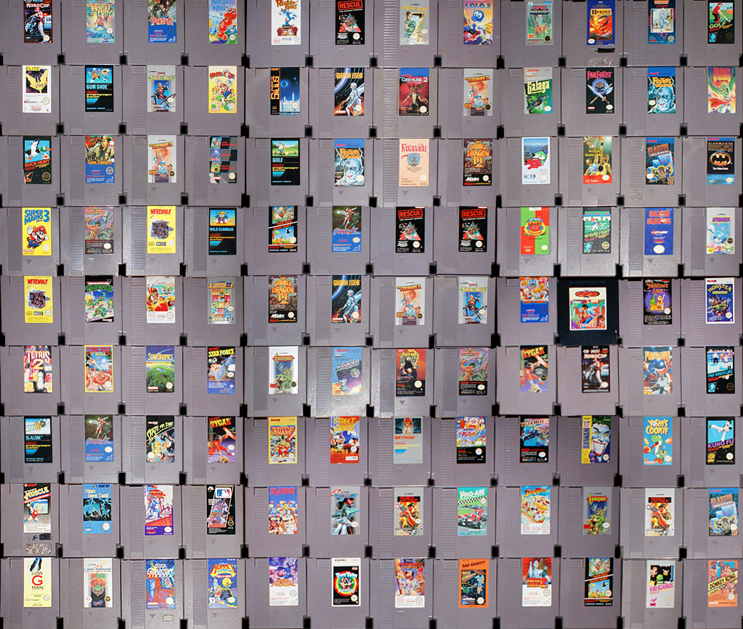 Get Retro Video Game Collage Gif