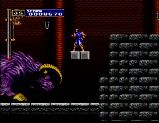 8 Castlevania Rondo of Blood Hunted by a Beast