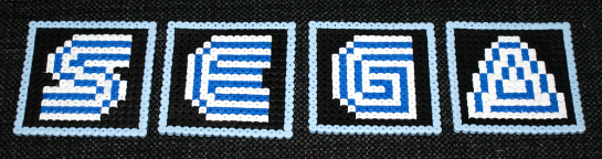 sega coasters 8bit perler beads