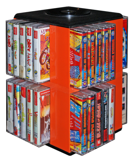 Cassette box with C64 games!!