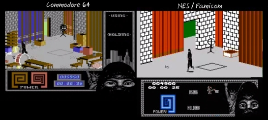 The Last Ninja NES-C64 comparison1