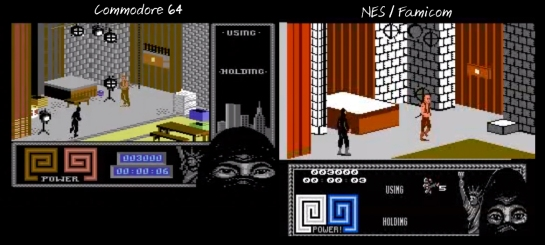 The Last Ninja NES-C64 comparison2