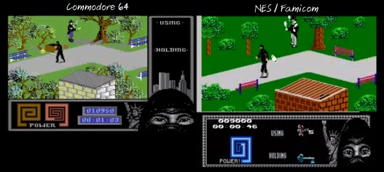 The Last Ninja NES-C64 comparison3