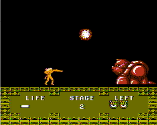 Altered BEast Famicom Stage 2 boss