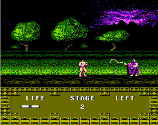 Altered Beast Famicom stage 2