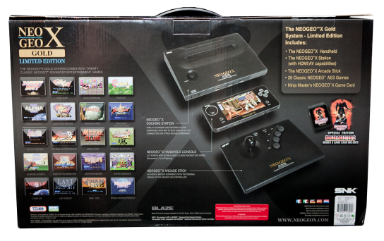 Neo Geo X Gold Limited Edition Box back