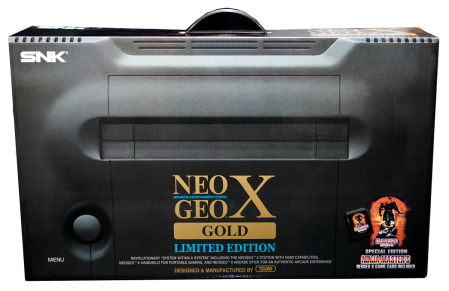 Neo Geo X Gold Limited Edition Box front