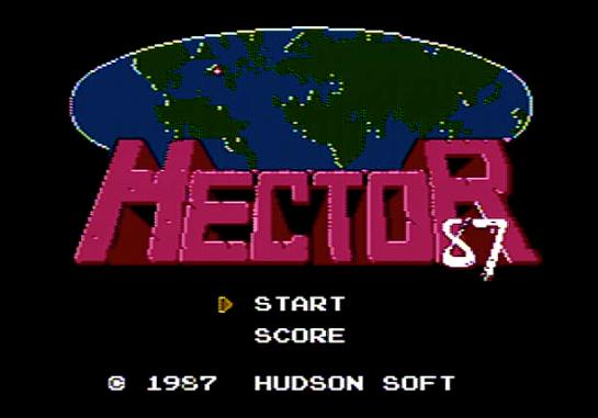 hector '87 start screen
