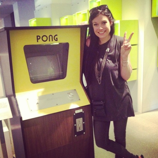 Me with the first pong arcade cabinet