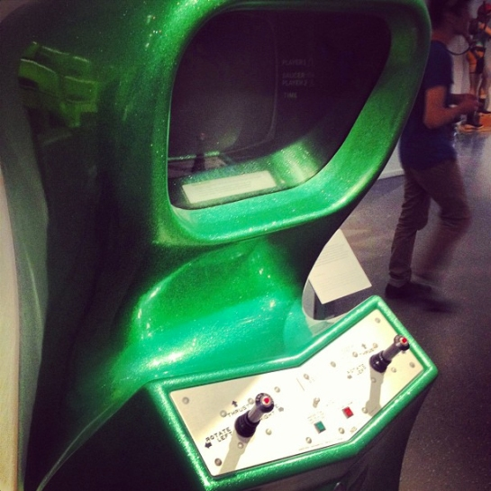 Spacey old retro arcade cabinet