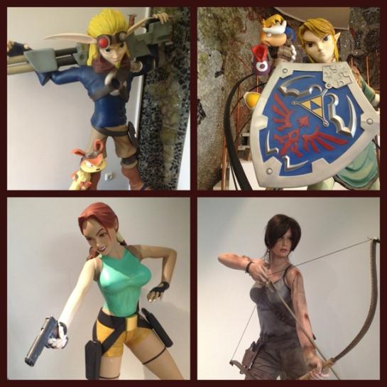 Jak & Daxter, Link, Rayman, Lara Croft