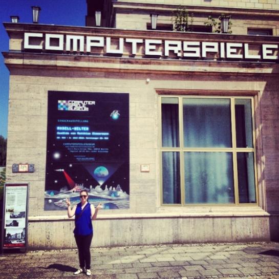 NinjaBrite outside the computer spiele museum in Berlin