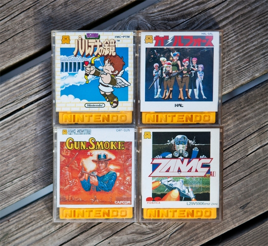 Famicom Disk System games - Kid Icarus, Gall Force, Gun.Smoke, Zanac