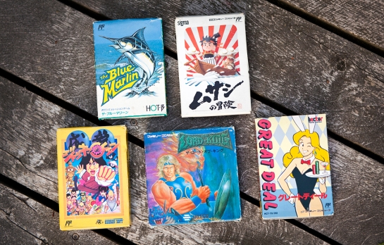 Famicom games - Blue Marling, Musashi, Jackie Chan, Lord of King, Great Deal