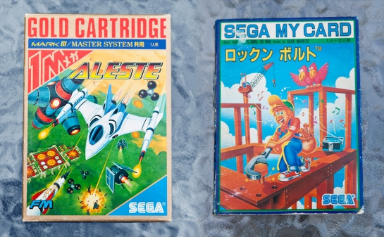 Sega Master system games Rock N' Bolt and Aleste