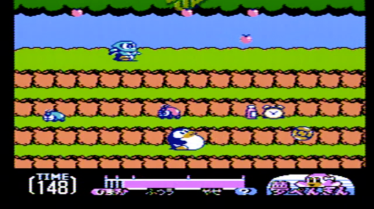 Famicom - Yume Penguin Monogatari - screenshot enemies