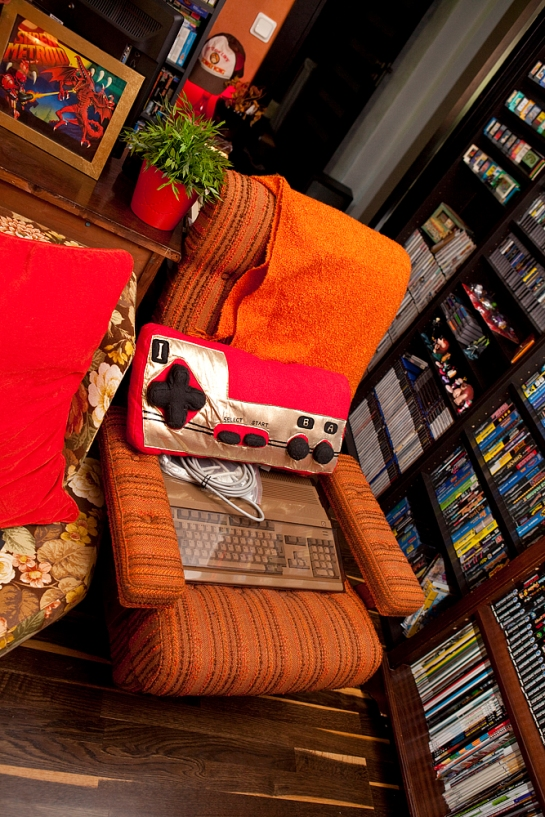favorite chair and famicom pillow