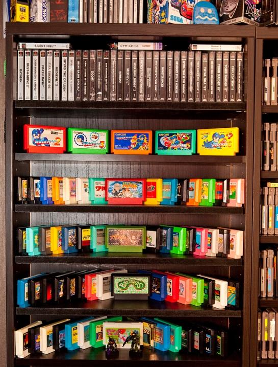 Shelf closeup - Famicom and PS1