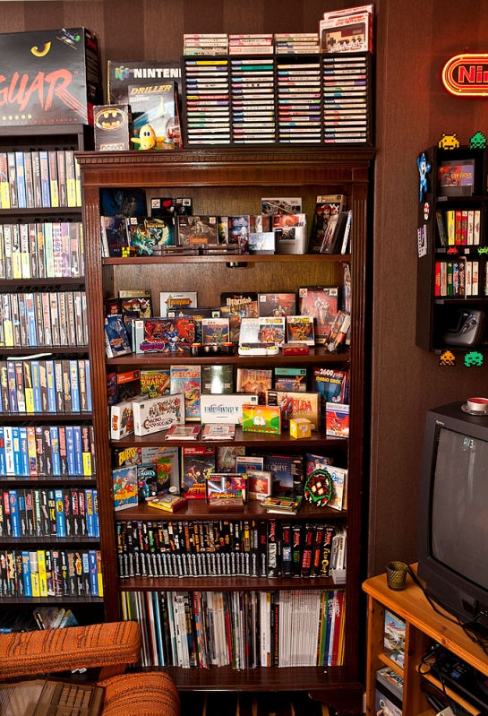 Shelf with castlevania etc
