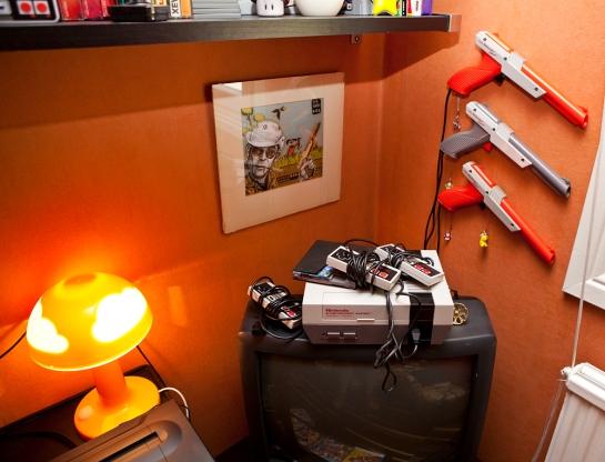 TV setup 1 - NES