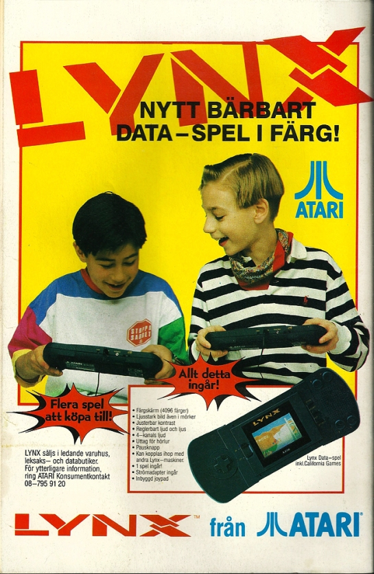 """LYNX - a new portable computer-game in color!"" and in the key selling points they are listing: pause button, power adaptor and built in joypad.. isn't that kind of ... obvious things??"