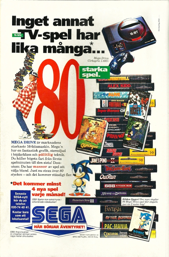 """""""No other 16-bit video game has as many... 80 strong games."""" 4 new games per month! wow.. that's a bit less.. than today ;D"""