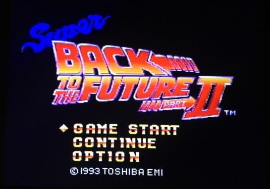 Super Back to the Future Part 2 screenshot start