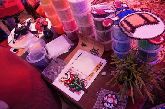 Bead art station at Retro Rumble © Jens Andreasson