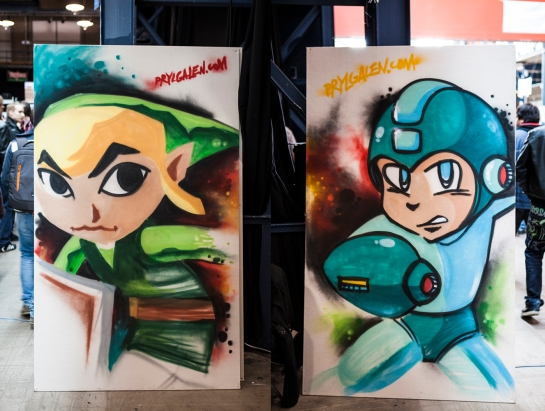 zelda and megaman art
