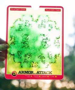 Vectrex Armor Attack overlay