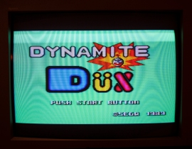Dynamite Dux title screen