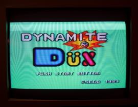 Dynamite Dux title screen