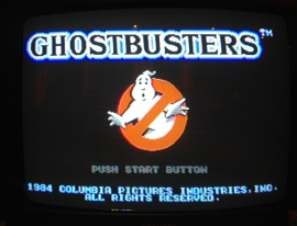 Ghostbuster title screen