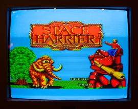 Space Harrier titlescreen