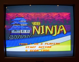 The Ninja titlescreen