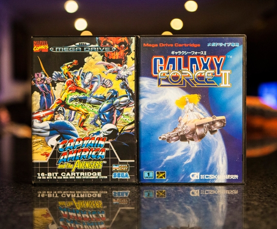 Sega Mega Drive games Captain America and Galaxy Force II