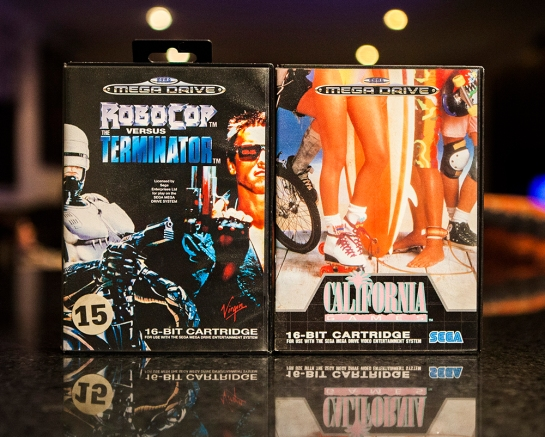 Sega Mega Drive Games Robocop vs Terminator and California games