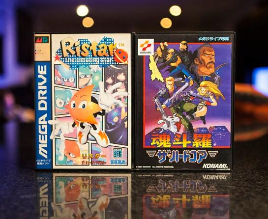 Sega Mega Drive Ristar and Contra Hard Corps