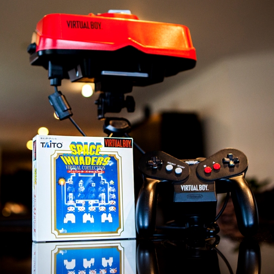 Virtual Boy with Space Invaders