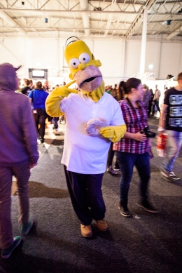 Home Simpson at Gamex/Comic Con 2014