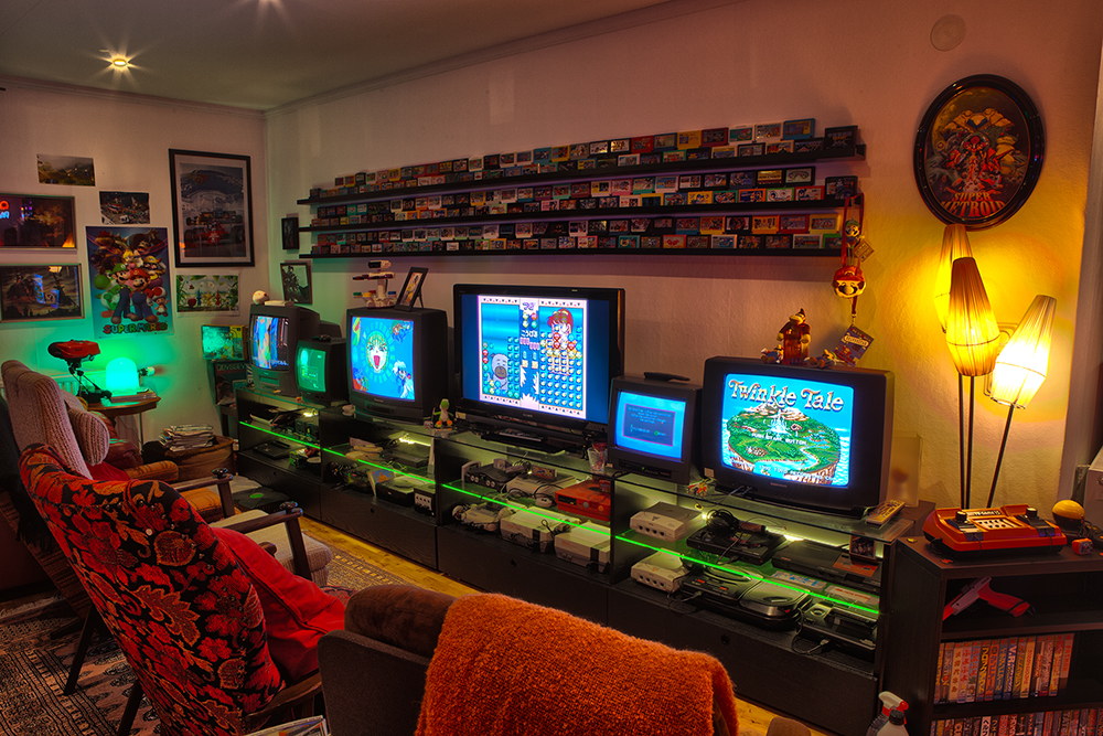 Gaming Room Retro Video Gaming