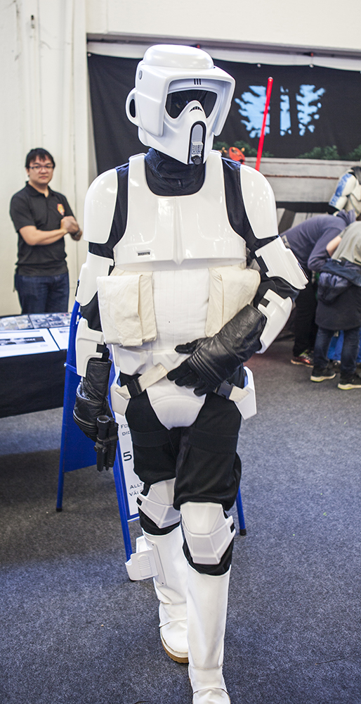 Sci-Fi World Malmö Cosplay scout trooper