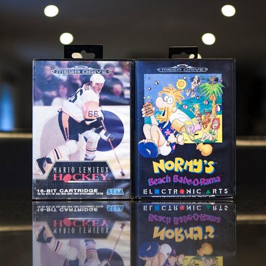Sega Mega Drive Normy's Beach Babe-o-rama & Mario Lemieux Hockey