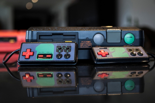 Twin Famicom Turbo controllers 1 and 2