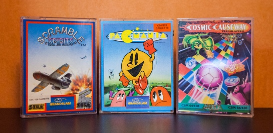 C64-Scramble-Spirits-PacMania-Cosmic-Causeway