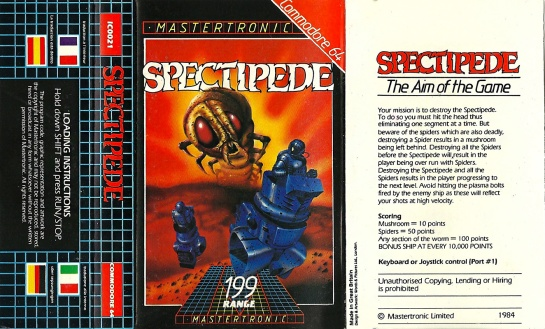 Commodore-C64-Spectipede