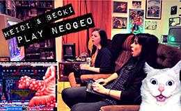 Heidi & Becki play Neo Geo game CyberLip!