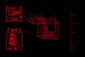 Virtual Boy Screenshot - 3D Tetris gameplay