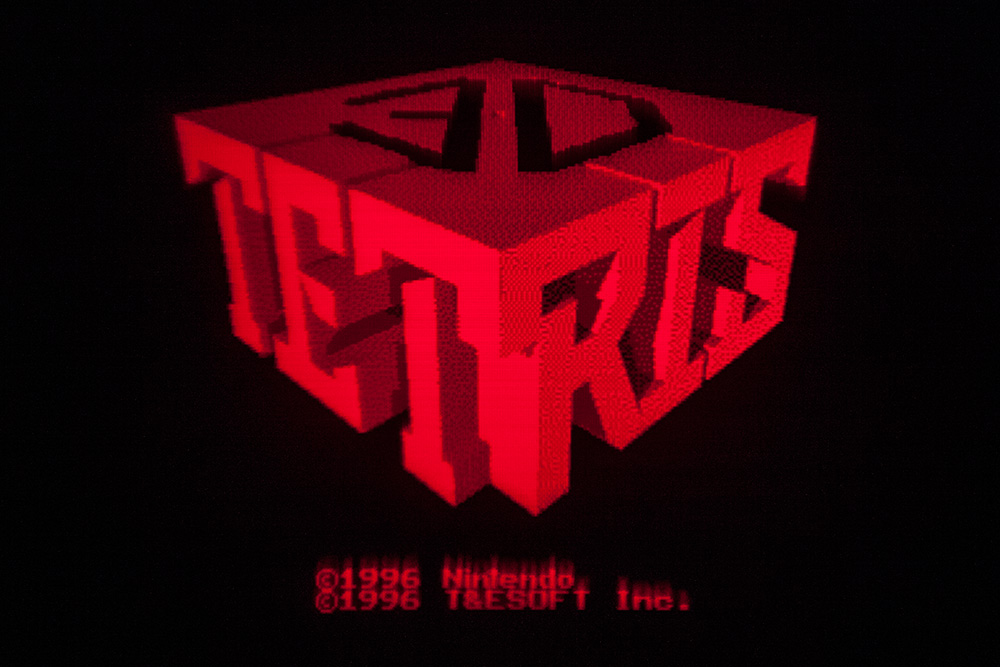Virtual Boy Screenshot - 3D Tetris