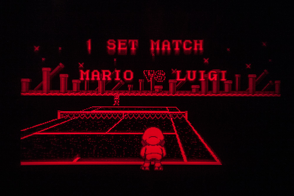 Virtual Boy Screenshot - Mario's Tennis gameplay